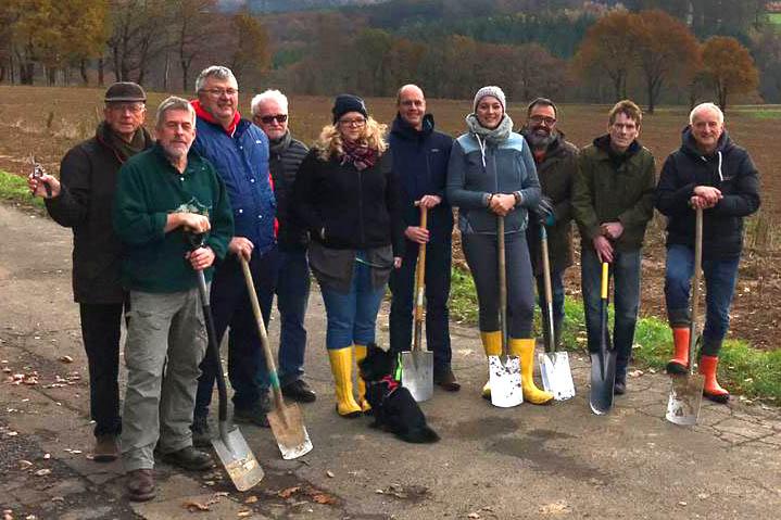 1.000 Sträucher für den Naturschutz in Puderbach gepflanzt