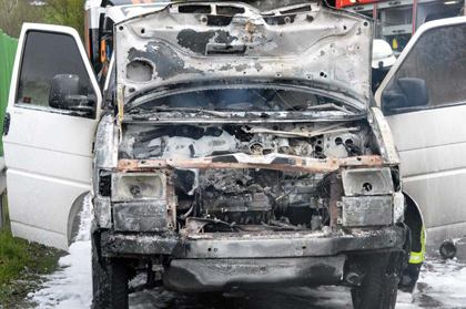 PKW-Brand sorgte für kilometerlangen Stau auf der B 8