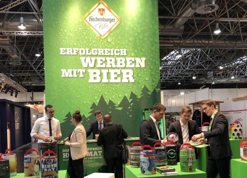 Hachenburger Partyfass wird auf Messe präsentiert
