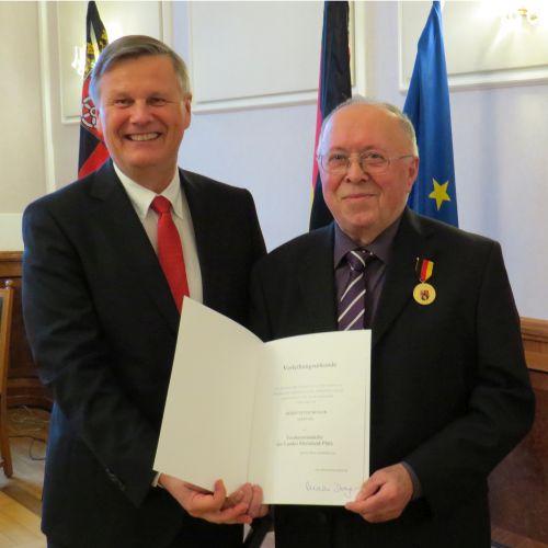 Peter Moslers ehrenamtliches Engagement in SGD Nord gewürdigt