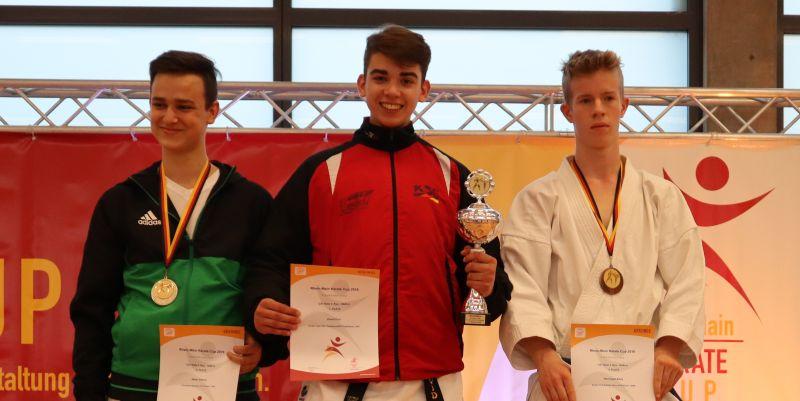 Drei Medaillen beim Rhein-Main Karate Cup
