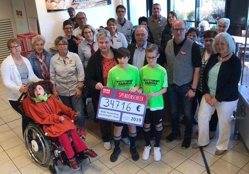 34.716 Euro f�r Kinderkrebshilfe Gieleroth gespendet