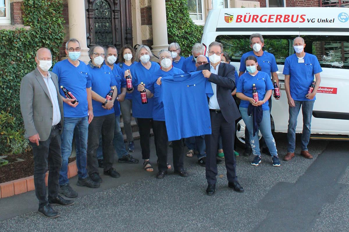 T-Shirts für das Team Bürgerbus der VG Unkel