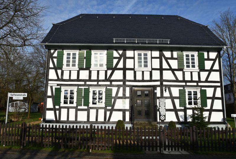 Raiffeisenhaus in Flammersfeld. Foto: Marlies Becker