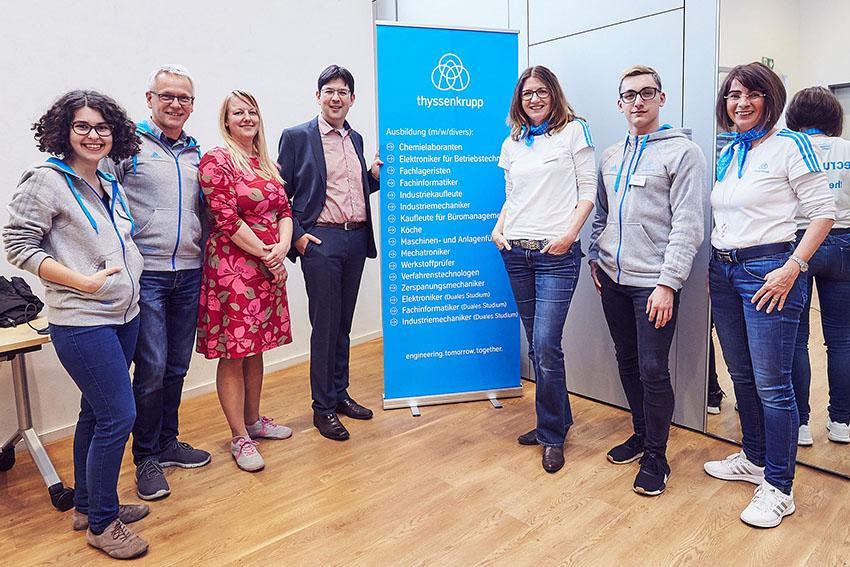 Rasselstein GmbH stellt Berufe im Big House vor