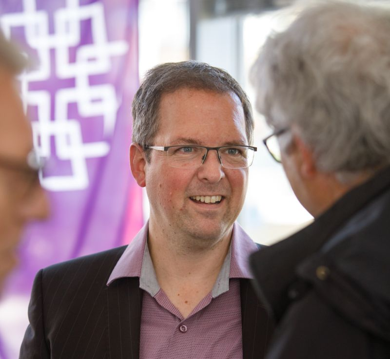 Carsten Gelhard, während des Tags der offenen Tür. Fotos: Peter Bongard