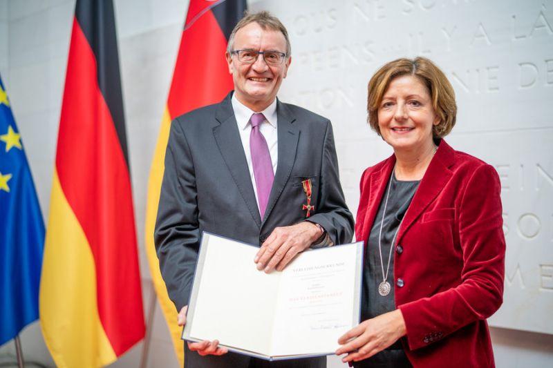 Malu Dreyer überreichte Verdienstorden an Rainer Kaul