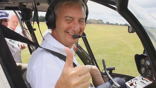 Blutspendemarathon: Hubschrauber-Rundflug winkt