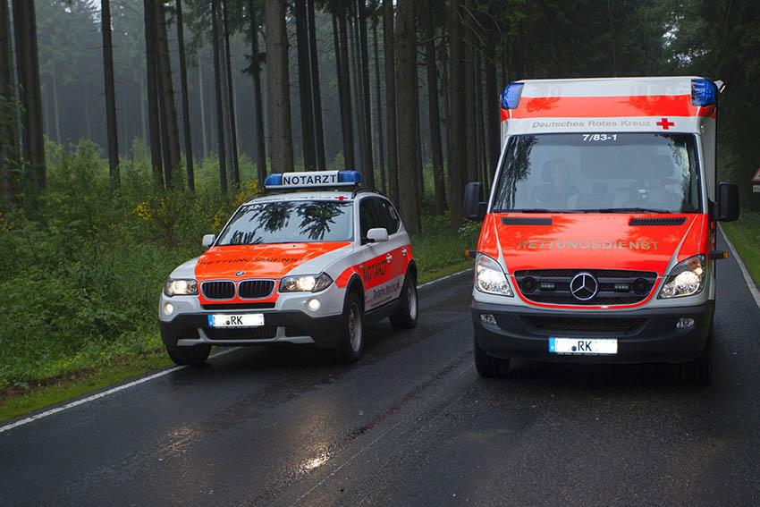 Schwerer Verkehrsunfall auf der Bundesstraße 256