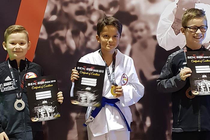 Karate: Luan Fajardo, Finley Becker und Nikita Seifert im Finale