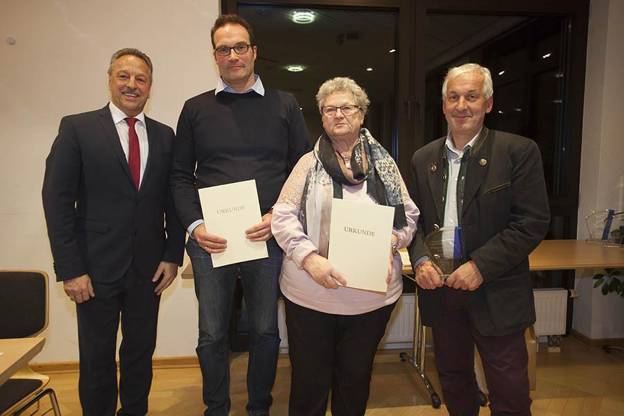Alice Jakobs und Roland Sieber erhalten Ehrenamtspreis