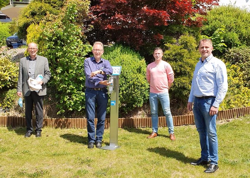 Rüddel und Wäschenbach zu Gast bei MWF Hygieneartikel & Bedarf