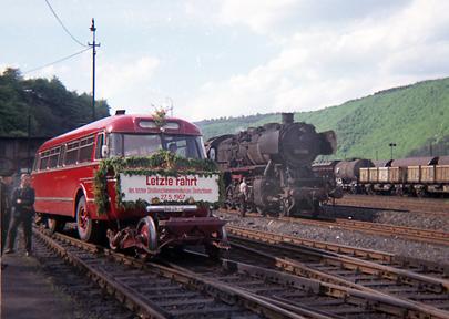 Der Straßen-Schienen-Bus: Ende vor 50 Jahren in Betzdorf