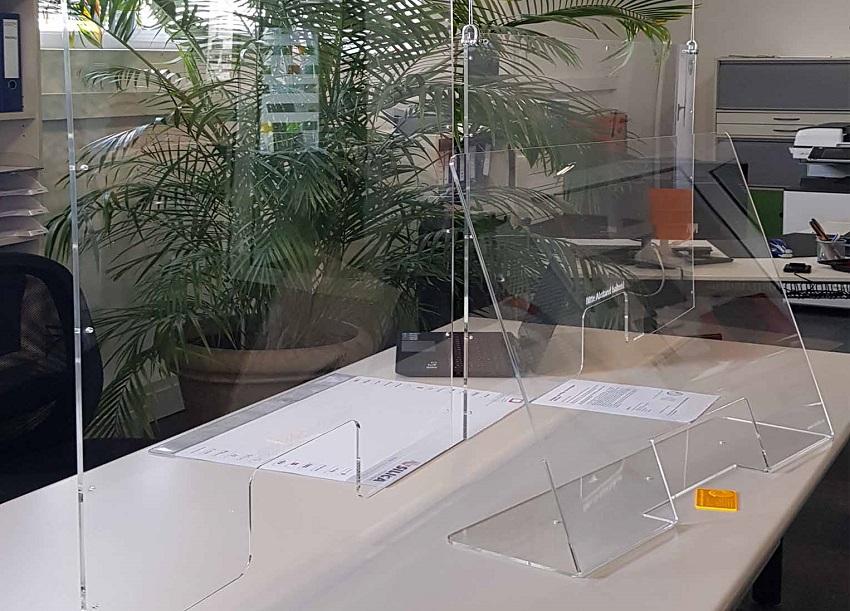 "Das Unternehmen Cocotec verschenkt ""Corona-Schutzscheiben"". (Foto: Cocotec light & design GmbH)"