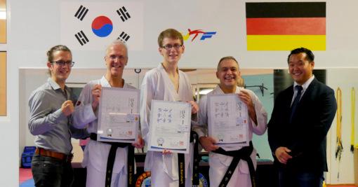 Training zahlt sich aus: Flammersfelder Taekwondo-Sportler bestehen Pr�fung