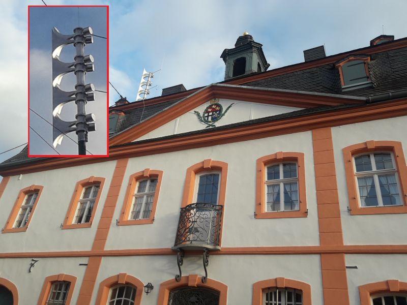 Neue Sirene auf dem Erpeler Rathaus