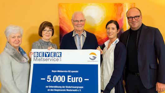 5.000 Euro f�r die Kindertrauergruppe des Hospizvereins Westerwald e. V.