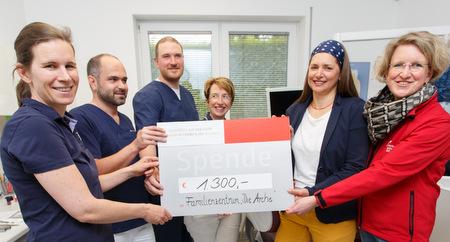 """Zahnärzte spenden für Familienzentrum """"Die Arche"""""""