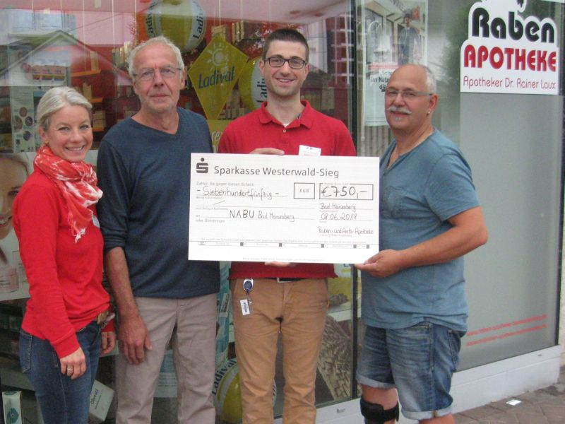 NABU Bad Marienberg freut sich über großzügige Spende