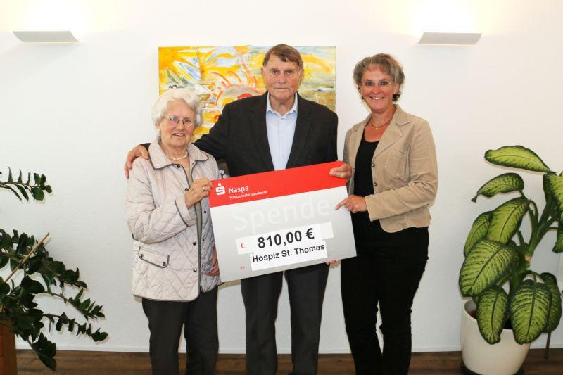 Grund zur Freude: Jubel-Paar unterstützt Hospiz St. Thomas in Dernbach