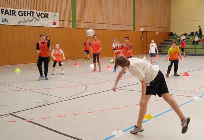 Sportspektakel an der IGS Hamm/Sieg