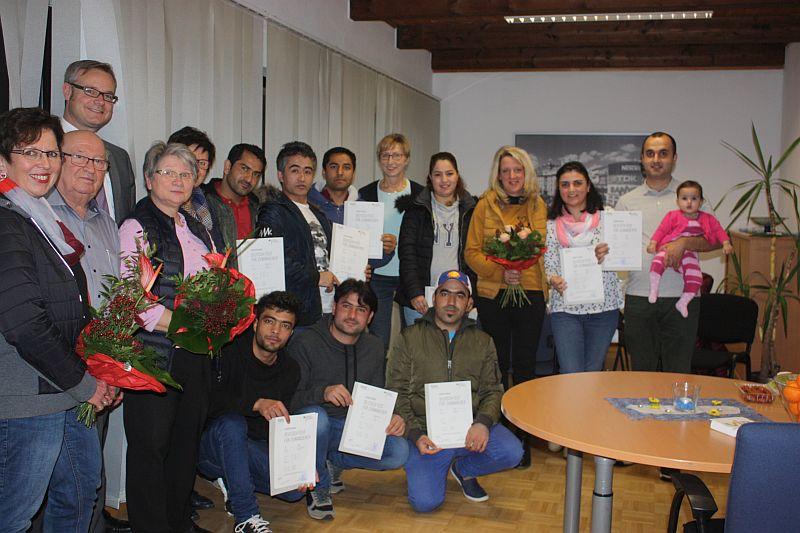Sprachkurs für Asylbewerber erfolgreich abgeschlossen
