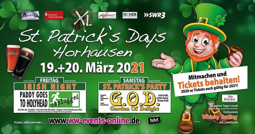 11. St. Patrick's Days Horhausen in den März 2021 verschoben