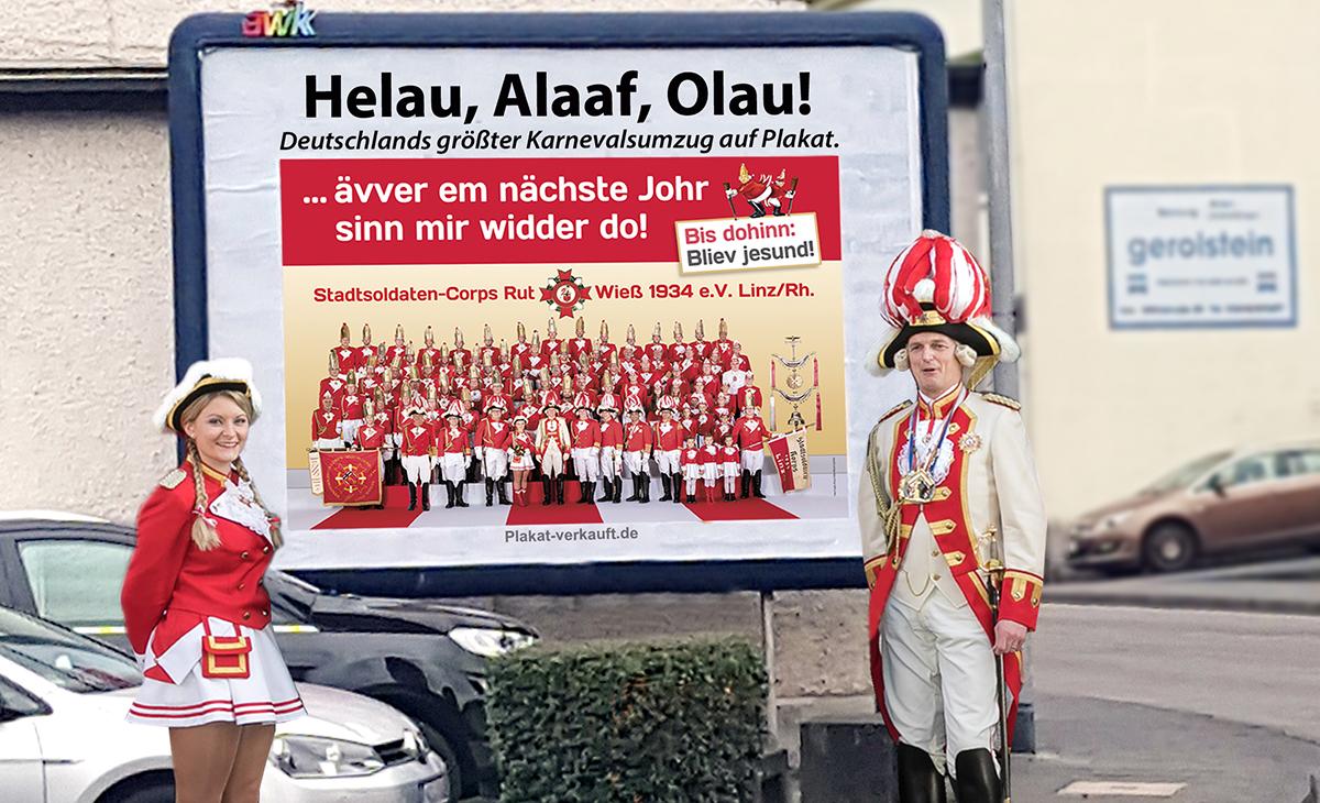 Größter Karnevalsumzug Deutschlands auf Plakaten