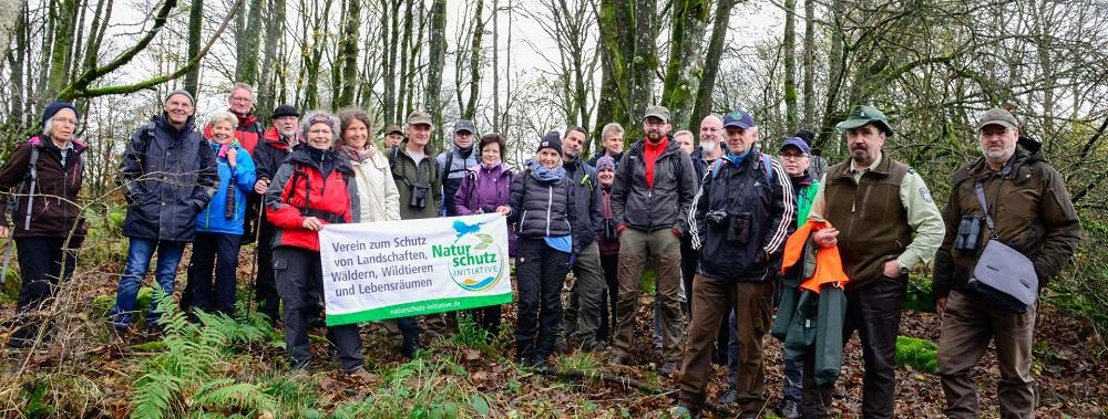 Natursch�tzer erlebten Waldwildnis im Nationalen Naturerbe Stegskopf