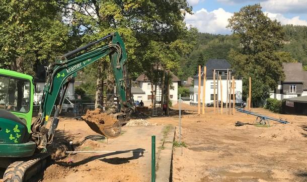 """""""Die Arbeiten in der Steinbuschanlage liegen auf der Zielgeraden, nun wurde die Benutzungssatzung des Intergenerationenparks abgesegnet."""" (Foto: Stadt Wissen)"""