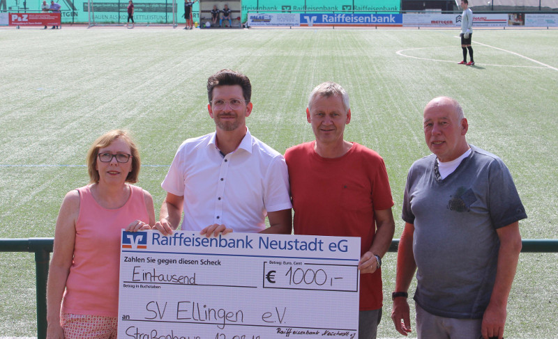 Raiffeisenbank Neustadt unterstützt SV Ellingen