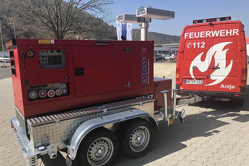 Feuerwehren VG Rengsdorf-Waldbreitbach erhalten neues Stromaggregat