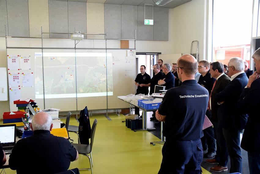 Übung der TEL der Kreise Altenkirchen, Neuwied und Westerwald