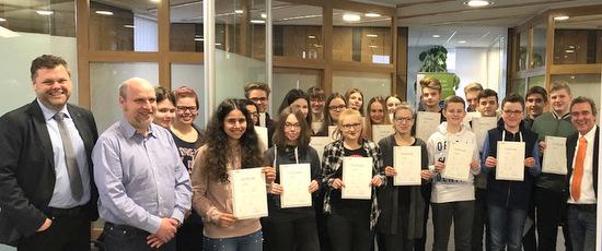 Westerwaldschule: Englisch-Sprachzertifikate übergeben