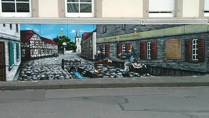 Künstlerische Aufwertung des Kirchplatzes in Rheinbreitbach