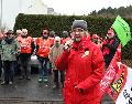 Streikende in Herdorf trotzten dem Regen und der K�lte