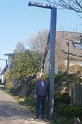 Beleuchtung Fußweg hinter 3-Feld-Halle Windhagen in Betrieb