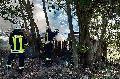 Unterstand bei Puderbach ging in Flammen auf