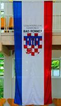 Bad Honnef-Flagge mit Herz in der Stadtinfo erhältlich