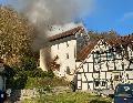 Feuerwehr rückte zu Wohnhausbrand in Hövels aus