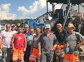 CDU brachte Bauarbeitern �Auf den Weiden� eine Erfrischung