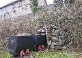 Bergbau-Lore am Ortseingang Pracht  neu aufgestellt