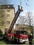 Feuerwehr-Übung am Schloss Hachenburg