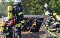 Baumgarten-Brand aufgekl�rt: Jugendliche warfen B�ller