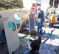 Etzbacher Grundsch�ler lernten vom Graffiti-Profi