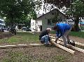 Engagierte Bürger bauen Bouleplatz in Goethe-Anlagen