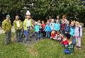 Zwei Schulklassen zu Gast auf dem Naturerlebnispfad Dürrholz