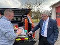 CDU-Bürgermeisterkandidat informierte sich über Feuerwehr in Friesenhagen