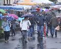 Historischer Herbstmarkt war nass