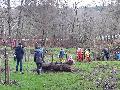 Projekte-Gruppe gestaltet mit Helfern naturnahe Freizeit- und Spielfl�che